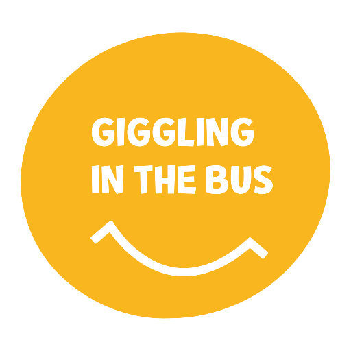 giggling in the bus